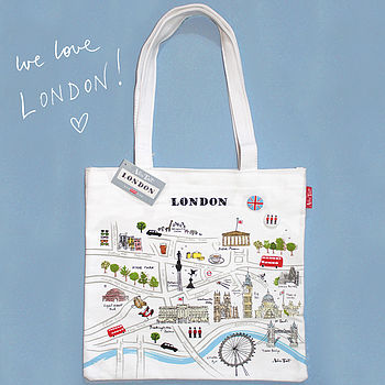 Alice Tait 'Map Of London' Shopper Bag