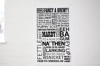 Yorkshire Dialect Modern Tea Towel