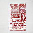 Yorkshire Tea Towel Red