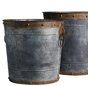 Factory Iron Buckets By Nordal - fireplace accessories