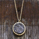 Elena Pendant Druzy Necklace