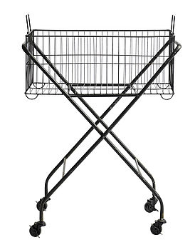 Iron Basket On Wheels By Nordal