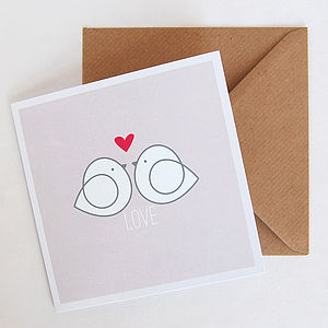Lovebirds Card - wedding, engagement & anniversary cards