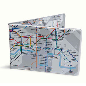 Tube Map Oyster Wallet - purses