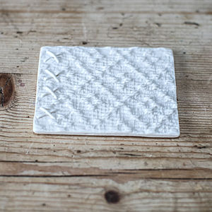 Fabric Inspired Porcelain Coasters - placemats & coasters