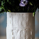 Porcelain Vase With Patchwork Design