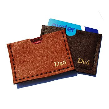 Machine Stamped Personalised Card Holder