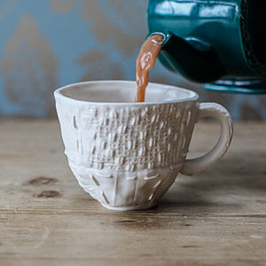 Porcelain Cup With Patchwork Design - artisan home accessories