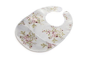 Oilcloth, Wipe Clean Bib With Pouch - bibs