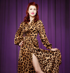 Leopard Print Bettie Robe - bathrobes