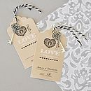 Set Of Two 'Key To Happiness' Escort Cards