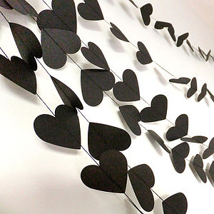 Rock And Roll Hearts Paper Garland - bunting & garlands