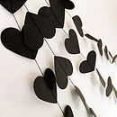 Rock And Roll Hearts Paper Garland