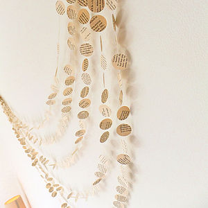 Old Book Page Paper Garland - rustic wedding