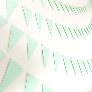 Fresh Mint Mini Paper Bunting - bunting & garlands