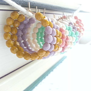 Gold Hoop Beaded Earrings Choose Your Colour