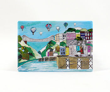 Bristol 'Clifton Balloons' Fridge Magnet
