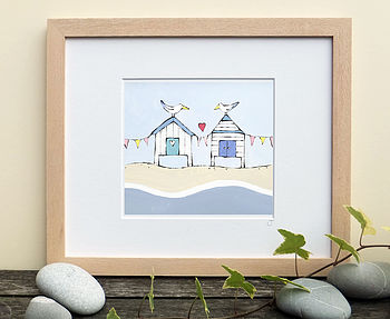 Two Gulls At The Seaside Print
