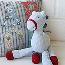 Vintage Style Baby Blue Knitted Horse
