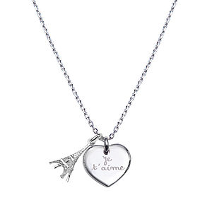 Personalised Eiffel Tower Charm Necklace - necklaces & pendants