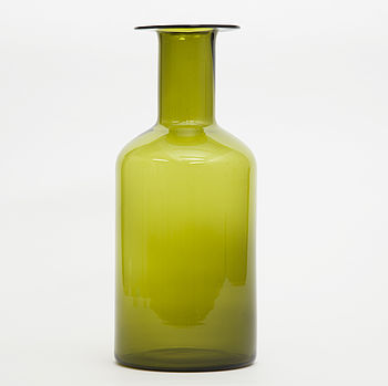 Green Or Blue Glass Vases
