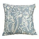 Lola Embroidered Silk Cushion Wedgewood