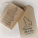 Map Personalised Save The Date Stamp