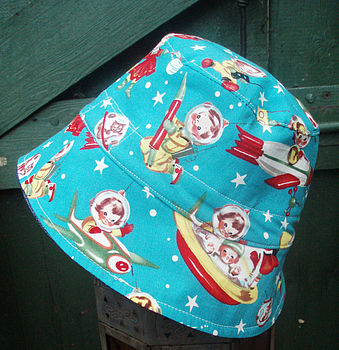 Boys 'Rocket Boy' Reversible Sun Hat
