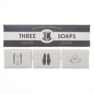 Gentleman Trio Of Soaps - washing & bathing