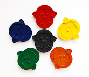 Set Of Six Monkey Crayons - toys & games