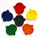 Set Of Six Monkey Crayons