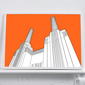 Battersea Power Station Graphic Print - architecture & buildings