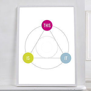 This Is It Geometric Print - posters & prints