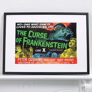 Official Curse Of Frankenstein Movie Poster - shop by price