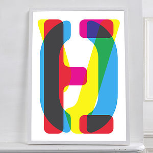 Limited Edition CMYK 'Love' Print - typography