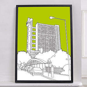 Trellick Tower Graphic Print - prints for christmas
