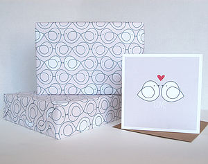 Lovey Dovey Wrapping Paper Two Sheets - wedding cards & wrap