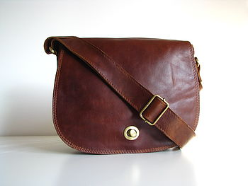 Leather Messenger Handbag