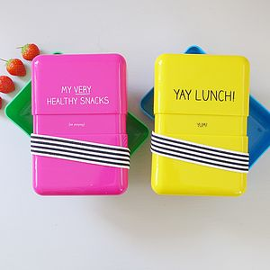 Plastic Lunch Box Two Designs