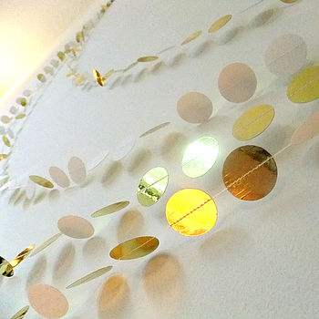 Metallic Gold Paper Garland