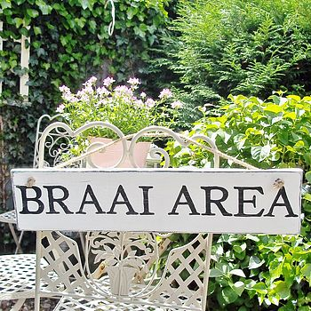 Personalised Bbq, Braai Area Or Garden Sign