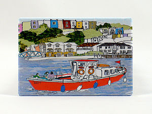 Bristol 'Red Ferry' Fridge Magnet - unusual favours