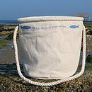 Beach Bag - 'Oh I Do Like To …' Design