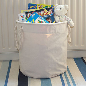 Canvas Toy Storage Bucket - children's furniture
