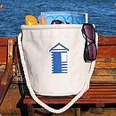 Beach Bag With Beach Hut Design