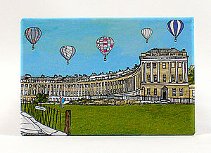 'Royal Crescent, Bath' Fridge Magnet - kitchen accessories