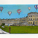 'Royal Crescent, Bath' Fridge Magnet