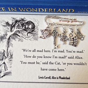 Alice In Wonderland Brooch - pins & brooches