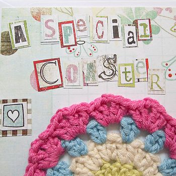 Crocheted Coaster For Special People
