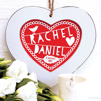 Personalised Rustic Heart Print